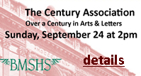 The Century Association, Over a century in arts and letters, Sunday, September 24 at 2 pm, details