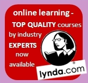 Lynda.com, online learning, top quality courses by industry experts now available.